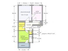 Trešnjevka, Pasarićeva, 1. kat, 59,27m2, 2 soban sa balkonom